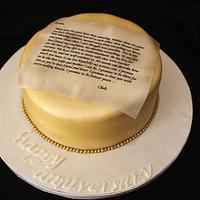 Love Letter Cake