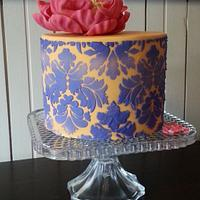 Bright and colourful surprise birthday cake with cookies