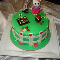 Hello Kitty Strawberry Patch Cake