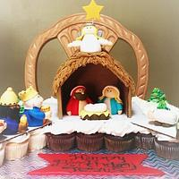 Nativity cupcake pull away