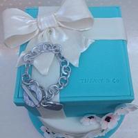 Tiffany two tier cake by Charmaine