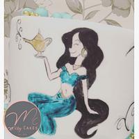 Princess jasmine painted cake  by Missyclairescakes