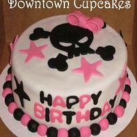 Skull n' Bows Birthday Cake