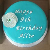 Simple, elegant blue birthday