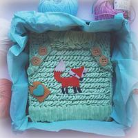 Fox sweater cake