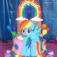Little Pony Rainbow dash Birthday cake