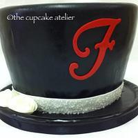 Grooms top hat cake
