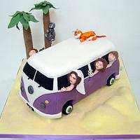 VW Camper Van Wedding Cake