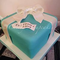 Tiffany Box Cake by Cherry's Cupcakes