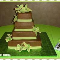 Green Orchids cake