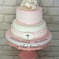 girls confirmation cake