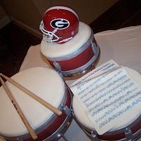 Drum Set Groom's Cake