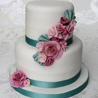 Raspberry Ruffle Cake
