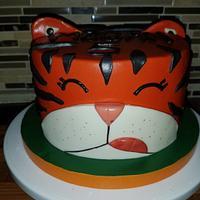 Tiger cake for my god-daughter
