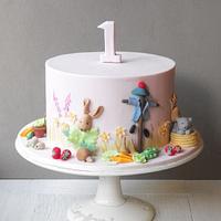 Beatrix Potter First Birthday Cake