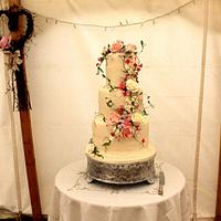 Cottage Garden Flowers Wedding Cake