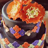 Moroccan Poppy Birthday Cake