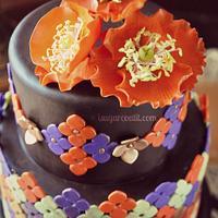 Moroccan Poppy Birthday Cake