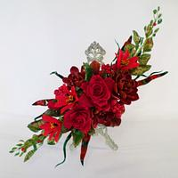 UNSA BeTeamRed Collaboration - Red Sugar Flowers