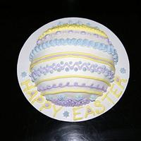Simple Easter Egg Cake
