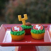 Superbowl Football Cupcakes