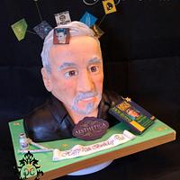 70 year old who loves Botox and Conspiracy theories bust cake