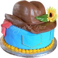 Cow Boy Hat Cake