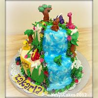 Jungle and Dinosaur Cake for Zakaria