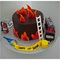 Firefighters cake SCDF