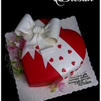 Heart with gelatin flowers