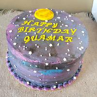 Galaxy cake by Shery Sweet