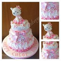 Hello kitty ruffle cake
