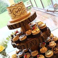 Woodland Wedding Cupcake Tower