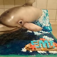 3D dolphin cake
