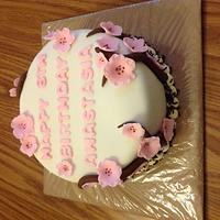 Cherry Blossom Cake by Claudia Amezcua