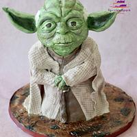 Sculpted Yoda from Star Wars Cakeflix Collaboration