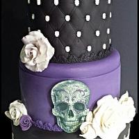 black wedding cake,till death do Us part cake