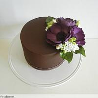 Anemones on Chocolate by Petalsweet
