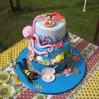 Seaside Cake by minkyman