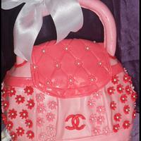 Pink Channel Bag Cake