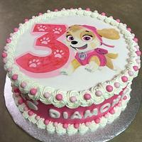 Paw Patrol cake featuring Skye
