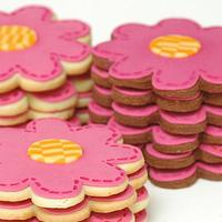 Stitched flowers Cookies