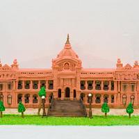 #Bangladeshi cake art collaboration #Magnificent Bangladesh#Ahsan monji#structural cake#fondent cake