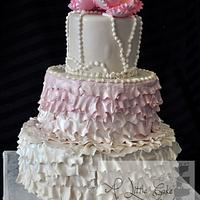 A Custom Fondant Wedding Cake