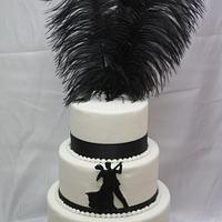Dancing Couple Wedding Cake