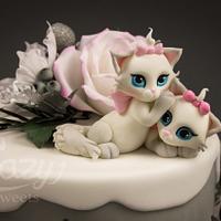 Little kittys birthday cake