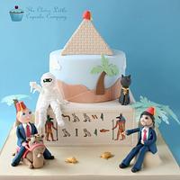Egyptian Themed Novelty Wedding Cake