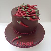 Chocolate chilli cake