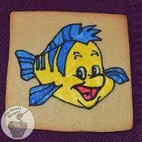 The Little Mermaid Flounder Sugar Cookie