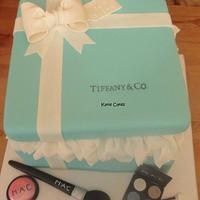 Tiffany Gift Box and MAC Makeup 2